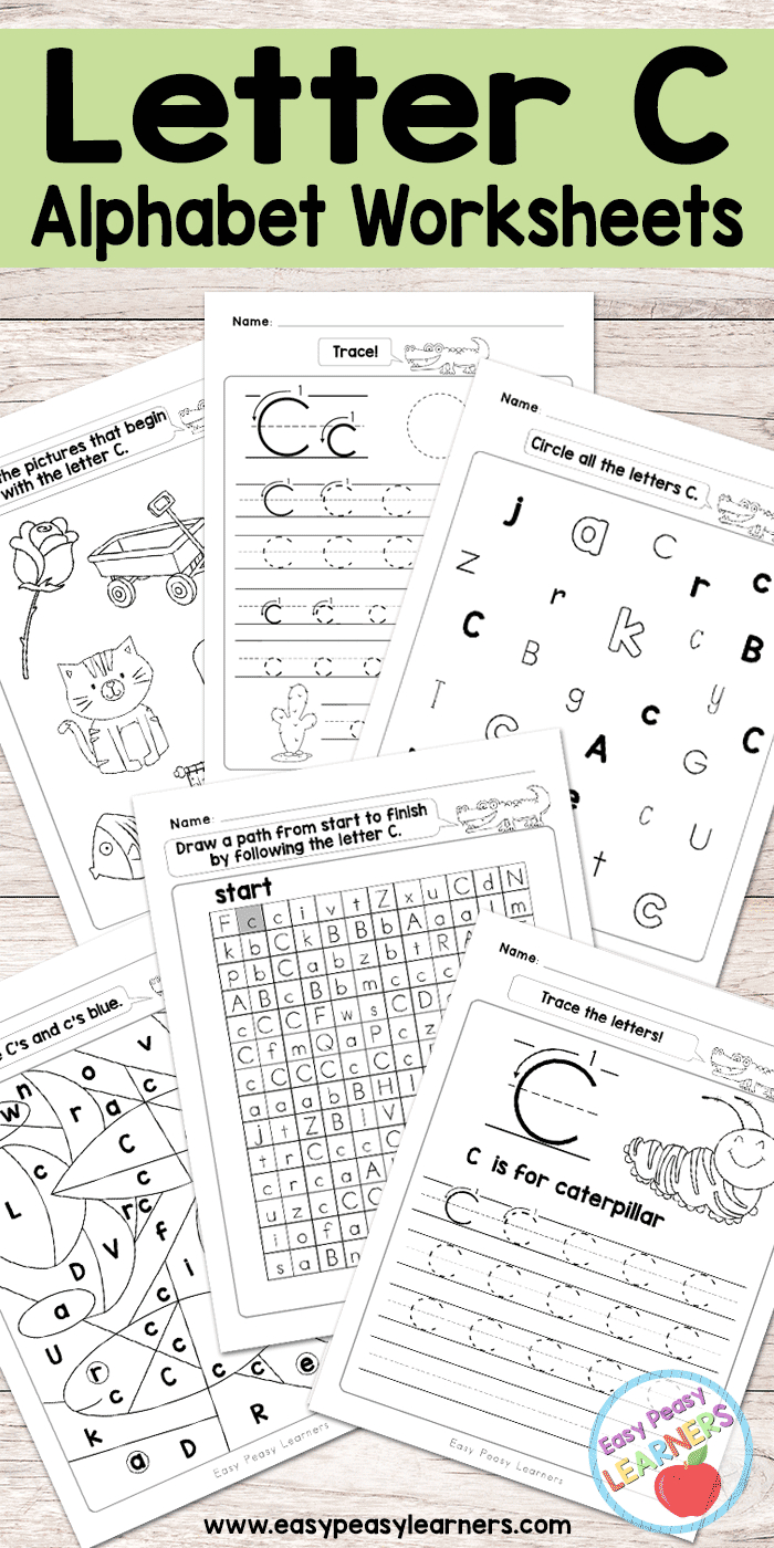 Letter C Worksheets - Alphabet Series - Easy Peasy Learners - Letter C Puzzle Printable