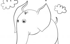 Letter E Is For Elephant Coloring Page   Free Printable Coloring Pages   Printable Elephant Puzzle