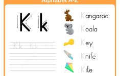 Letter K Tracing Worksheet   Free Printable Puzzle Games   K Print Puzzle