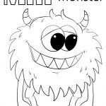 Letter M Is For Monster Coloring Page | Free Printable Coloring Pages   Printable Monster Puzzle