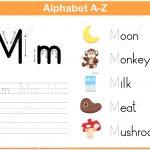 Letter M Tracing Worksheet | Free Printable Puzzle Games   Letter M Puzzle Printable