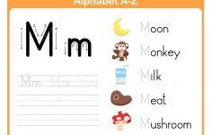 Letter M Tracing Worksheet   Free Printable Puzzle Games   Letter M Puzzle Printable