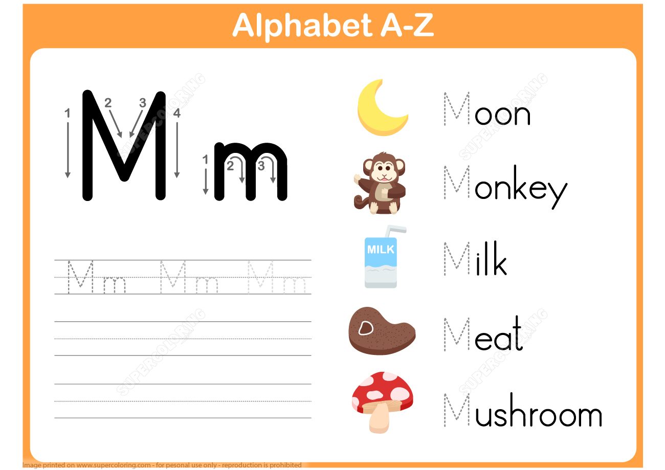 Letter M Tracing Worksheet | Free Printable Puzzle Games - Letter M Puzzle Printable