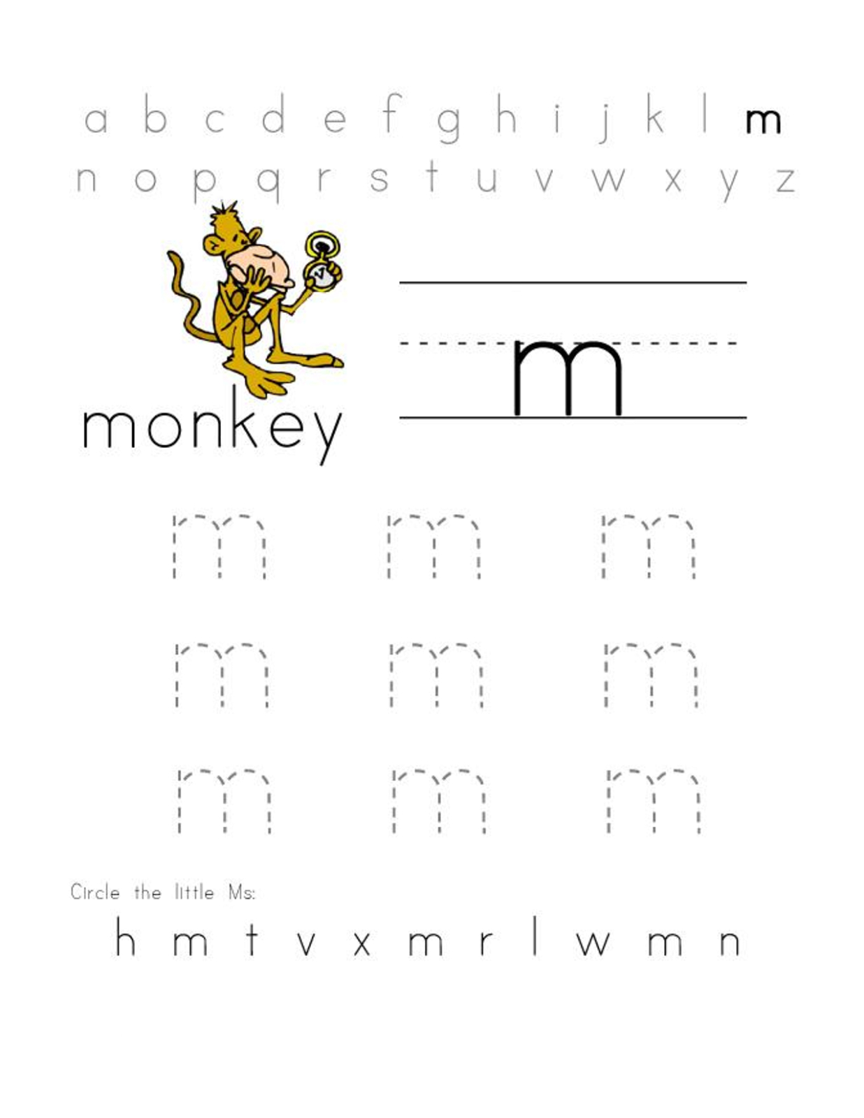 Letter M Worksheets | Activity Shelter - Letter M Puzzle Printable