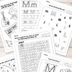 Letter M Worksheets   Alphabet Series   Easy Peasy Learners   Letter M Puzzle Printable