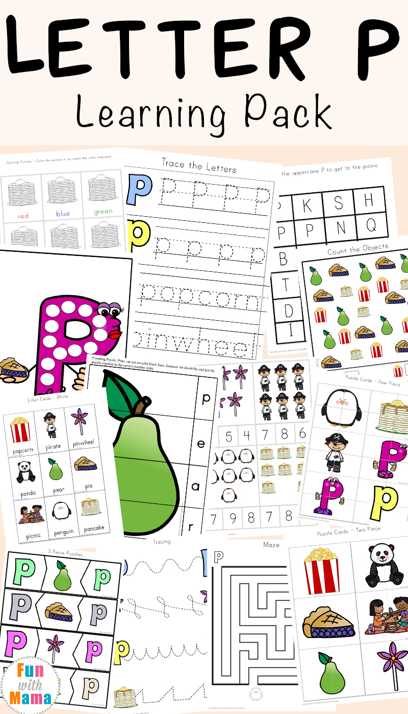 Letter P Worksheets + Printables - Fun With Mama - Letter P Puzzle Printable