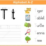 Letter T Tracing Worksheet | Free Printable Puzzle Games   Letter T Puzzle Printable