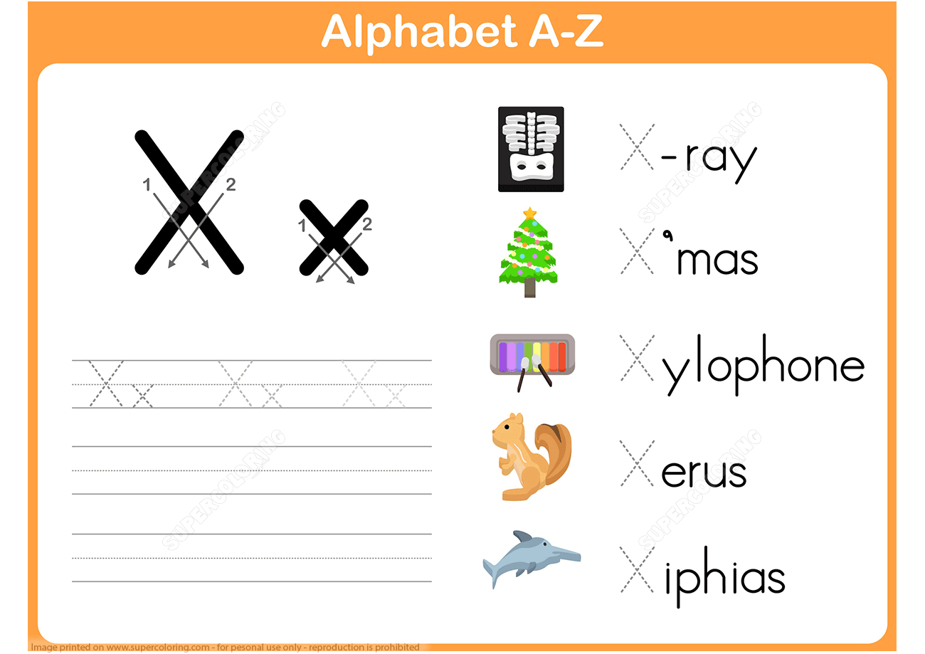 Letter X Tracing Worksheet   Free Printable Puzzle Games - X Puzzle Worksheet