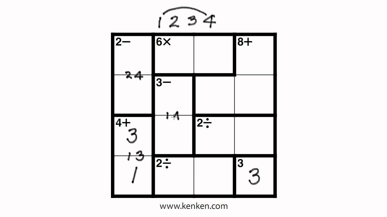 List Of Synonyms And Antonyms Of The Word: 4X4 Kenken - Printable Kenken Puzzles 4X4