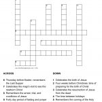 Liturgical Calendar Puzzle   Printable Epiphany Crossword Puzzle