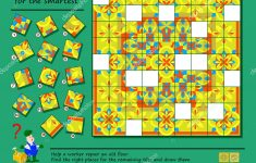 Logic Puzzle Game Smartest Help Worker Repair Ancient Floor Find   Printable Floor Puzzle