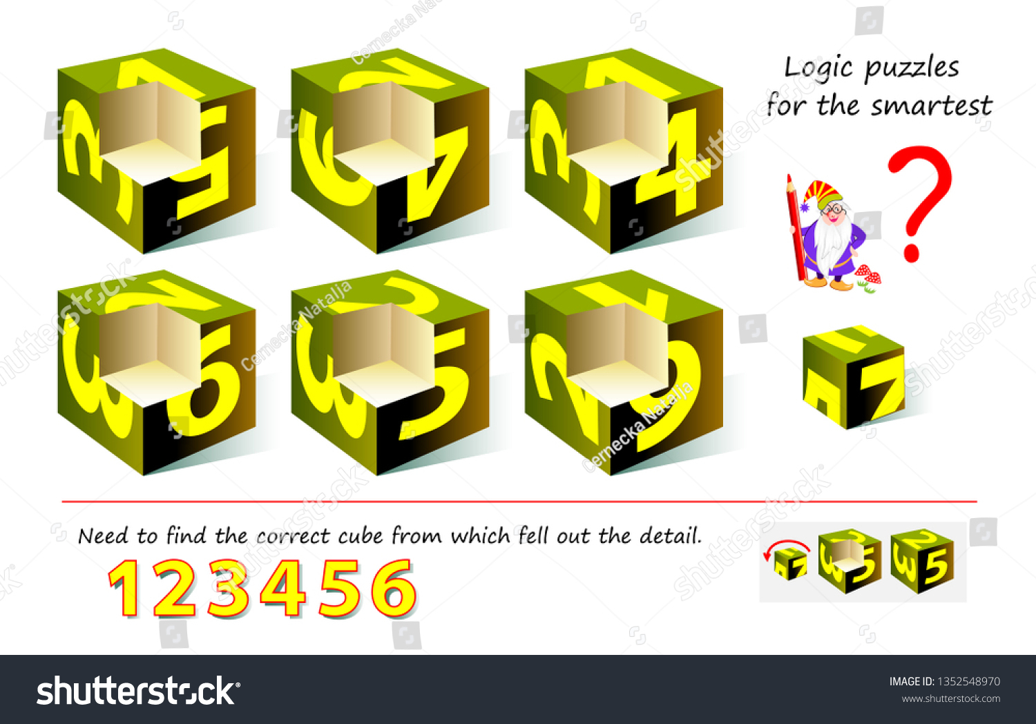 Logic Puzzle Game Smartest Need Find Stock Vector (Royalty Free - Printable Logo Puzzle
