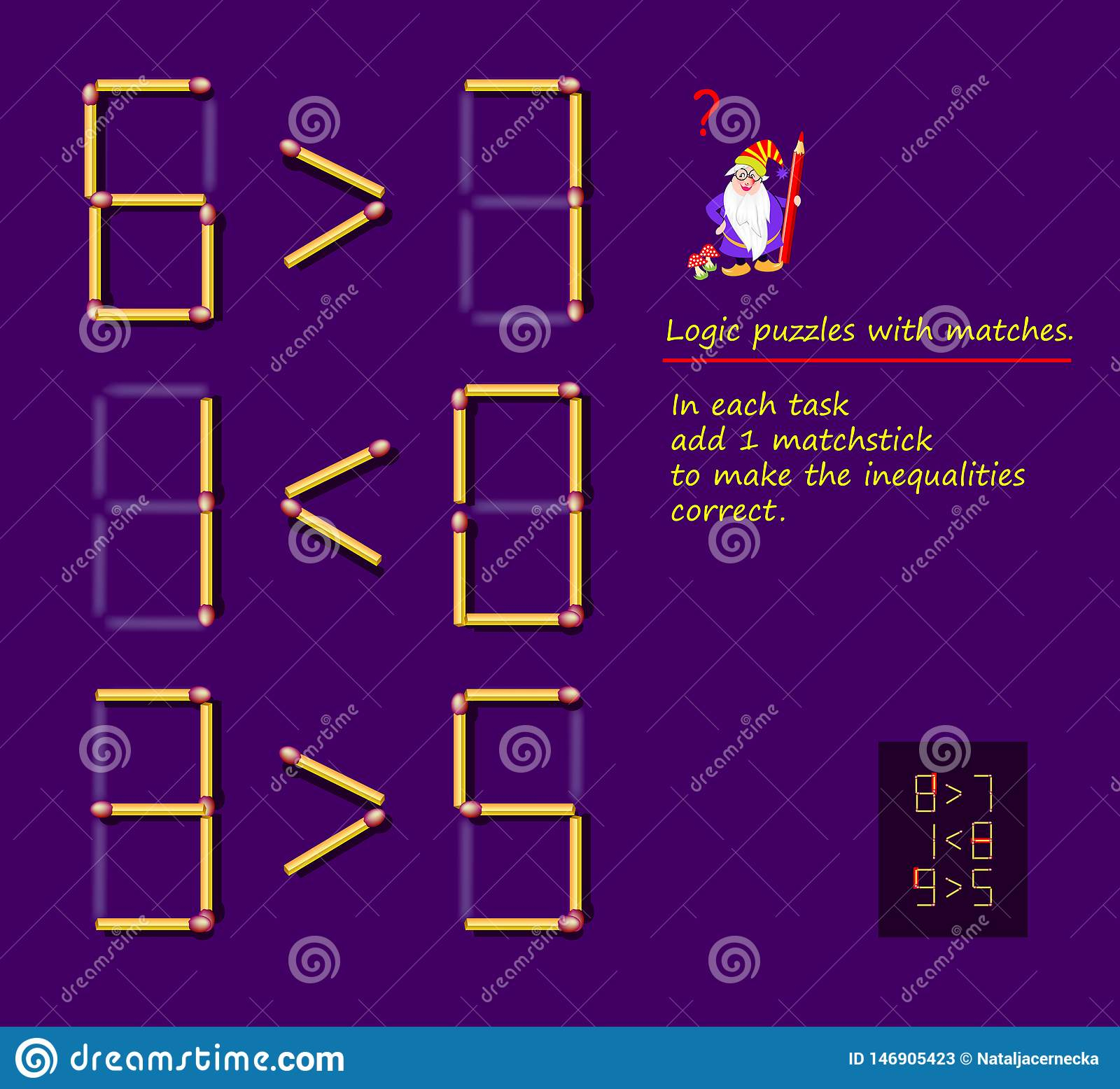 Logical Puzzle Game With Matches. In Each Task Add 1 Matchstick To - Printable Matchstick Puzzles