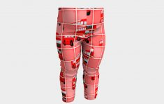 London Bus Pixel Puzzle, Baby Leggingsprawny | Shop | Art Of Where   Puzzle Print Leggings