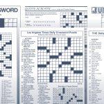 Los Angeles Times Sunday Crossword Puzzle | Tribune Content Agency   Printable Crosswords La Times
