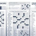 Los Angeles Times Sunday Crossword Puzzle | Tribune Content Agency – Printable La Crossword Puzzles