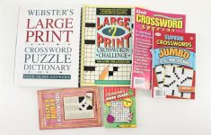 Lot Websters Large Print Crossword Puzzle Dictionary Puzzle Books   Large Print Crossword Puzzle Dictionary
