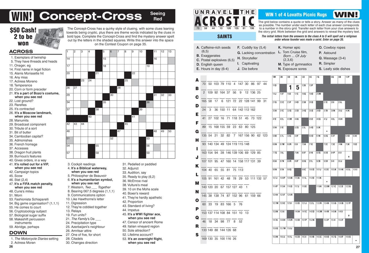 Lovatts Big Crossword (Nz). | Magshop - Print Puzzle Nz