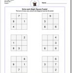 Magic Square Puzzles This Page Has 3X3, 4X4 And 5X5 Magic Square   Printable Kenken Puzzles 3X3