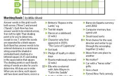 Marching Bands (Saturday Puzzle, Jan. 7)   Wsj Puzzles   Wsj   Wall Street Journal Crossword Puzzle Printable