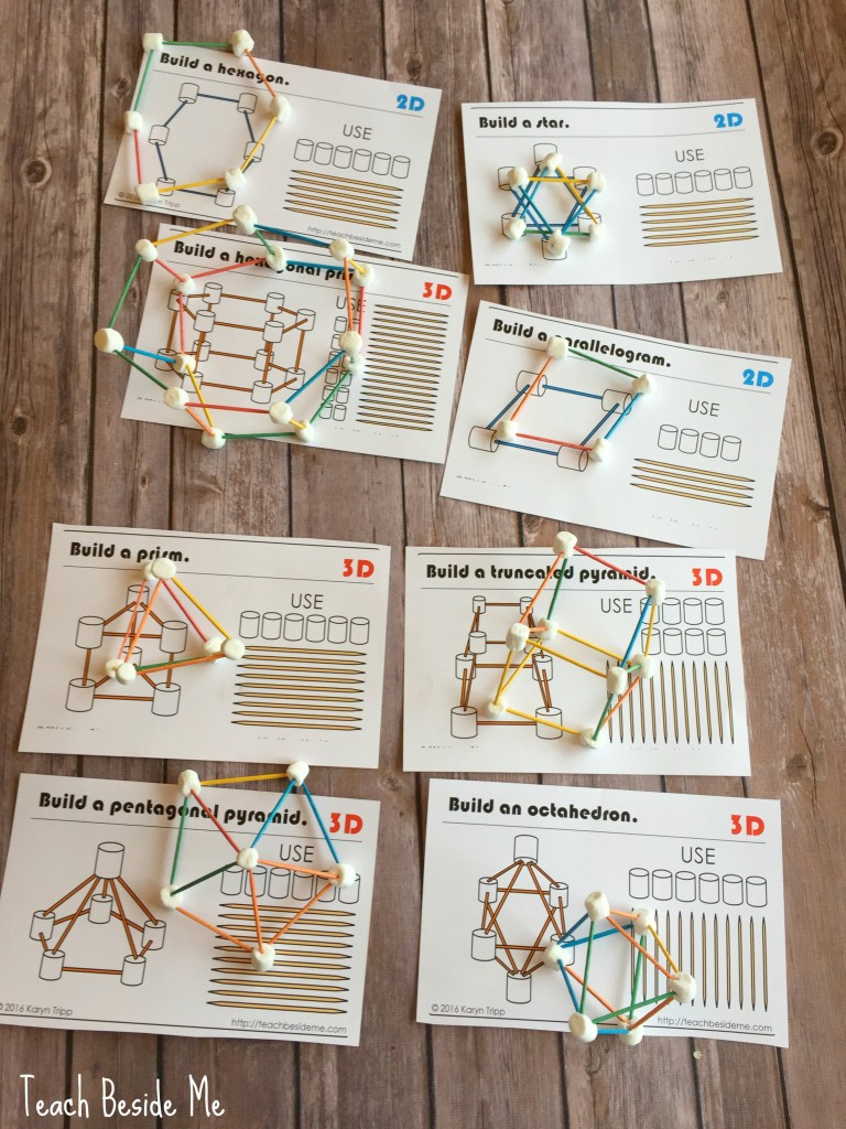 Marshmallow & Toothpick Geometry – Teach Beside Me - Printable Toothpick Puzzles
