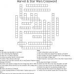 Marvel & Star Wars Crossword   Wordmint   Star Wars Crossword Puzzle Printable