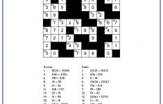 Math Crossword Puzzle Maker – Free Printable Worksheets – Printable Math Crossword Puzzles