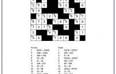 Math Crossword Puzzle Maker   Free Printable Worksheets   Printable Math Crossword Puzzles