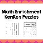 Math Enrichment Freebies   Kenken Puzzles | Ed   Math | Math   Printable Kenken Puzzles