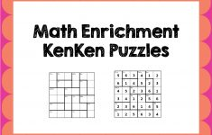 Math Enrichment Freebies   Kenken Puzzles   Ed   Math   Math   Printable Kenken Puzzles