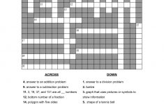 Math Puzzles Printable For Learning | Activity Shelter   Printable Crossword Puzzles Grade 3