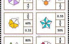 Math Skills Training Visual Puzzle Or Worksheet. Circle The Correct   Worksheet Visual Puzzle