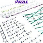 Maths Puzzles Worksheets Fun Math High School Pdf 6Th Grade Ks3 For   Printable Math Puzzles Pdf