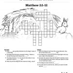 Matthew 2 The Magi Christmas Story Sunday School Crossword Puzzles   Printable Epiphany Crossword Puzzle