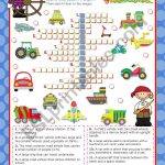 Means Of Transport Crossword Puzzle For Elementary Or Lower   Intermediate Crossword Puzzles Printable