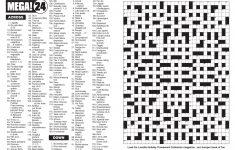 Mega! Crosswords Magazine – Lovatts Crosswords & Puzzles – Giant Crossword Puzzle Printable