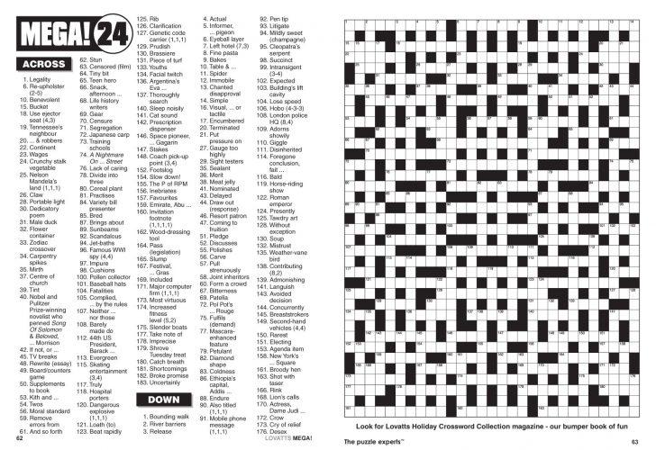 Giant Crossword Puzzle Printable