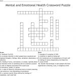 Mental And Emotional Health Crossword Puzzle Crossword   Wordmint   Printable Mental Health Crossword Puzzle