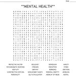 Mental Health** Word Search   Wordmint   Printable Crossword Puzzles For Mental Health