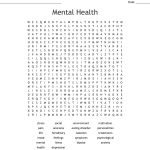 Mental Health Word Search   Wordmint   Printable Crossword Puzzles For Mental Health