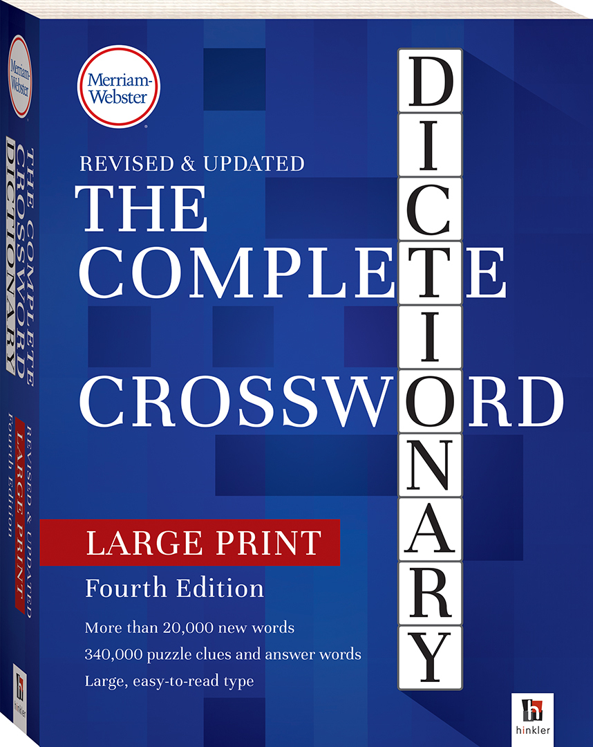 Merriam-Webster Complete Crossword Dictionary 4Th Edition - Large Print Crossword Puzzle Dictionary