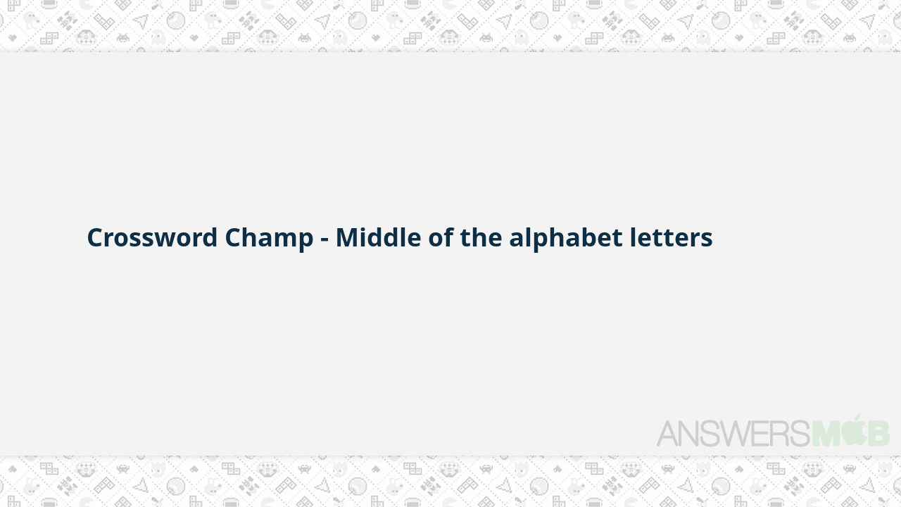 Middle Of The Alphabet Letters Crossword - Photos Alphabet Collections - Printable Laxcrossword