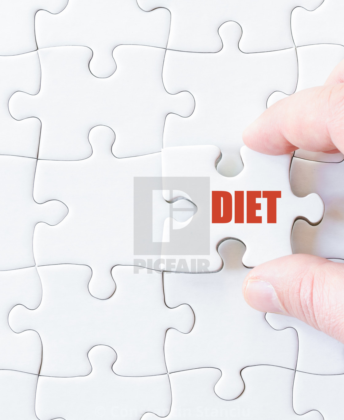 Missing Jigsaw Puzzle Piece With Word Diet - License, Download Or - Print Missing Puzzle Piece