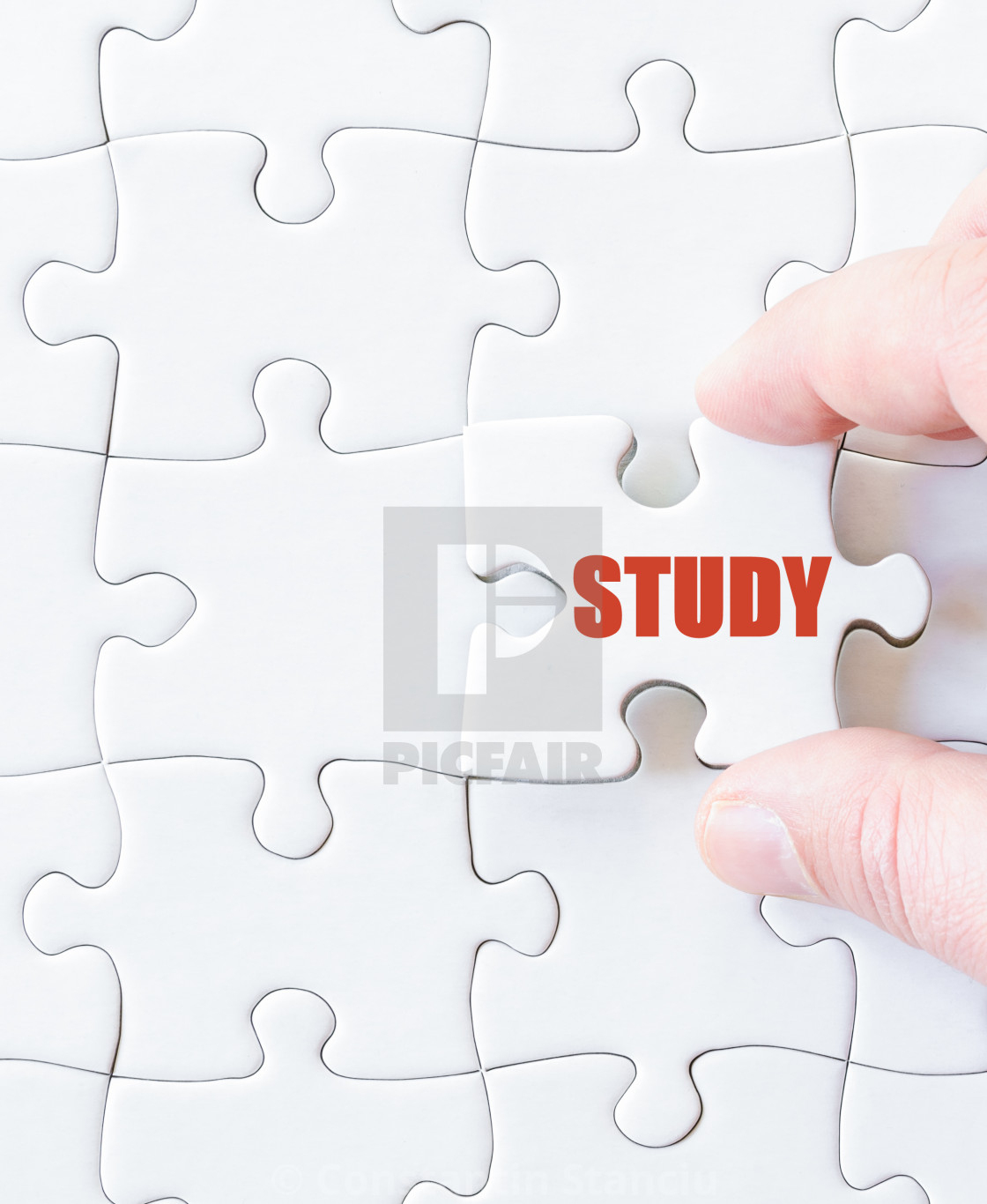 Missing Jigsaw Puzzle Piece With Word Study - License, Download Or - Print Missing Puzzle Piece