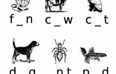 Missing Vowels Worksheet | Free Printable Puzzle Games   Printable Missing Vowels Puzzles
