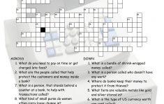 Money Banking Crossword Puzzle Worksheet Esl Fun Games Have Fun!   Printable Esl Crossword Worksheets