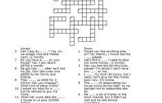 Money Crossword Puzzle Worksheet   Free Esl Printable Worksheets   Printable Money Crossword Puzzle