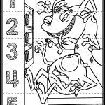 Monster Inc. Number Puzzles | Autism Activities | Free, Kindergarten   Printable Monster Puzzle