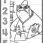 Monster Inc. Number Puzzles | My Tpt Store | Printable Math   Printable Monster Puzzle