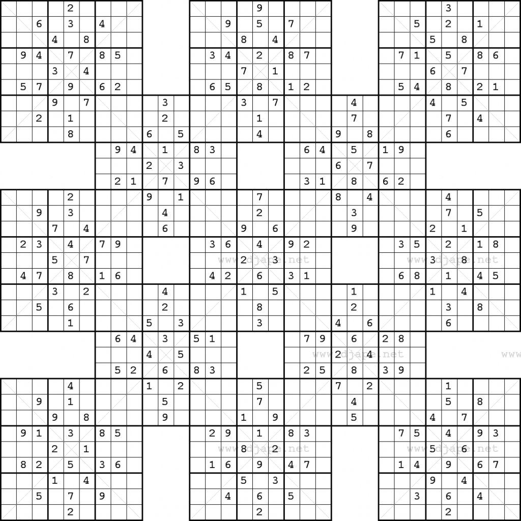 Monster Sudoku 16X16 | Www.topsimages | Printable Giant Sudoku - Printable Sudoku Puzzles 16X16 Free